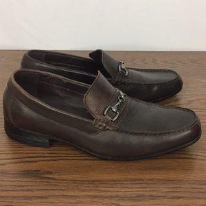 Enzo Feldini mens dress shoes brown Loafer 8 M
